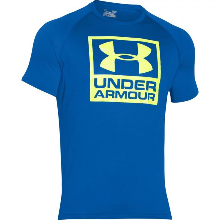 Pánské tričko Under Armour Boxed modré