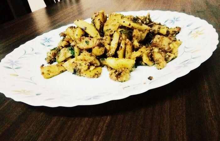 Potato roast #potato #curryleaves #inlovewithfood