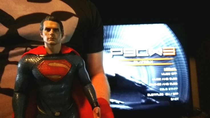 """#P90X3 #pilates made #Batman sweat! It's not a """"girly"""" exercise! Is hard work! #p90x #workout #fitness #Superman #Supergirl"""