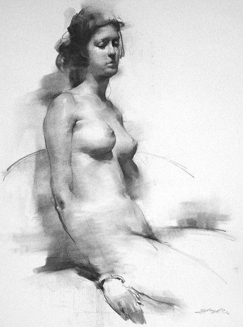 Zhaoming Wu - life drawing woman