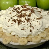 Making this for my husband's bday!  Carla Hall 10 Gallon Banoffee Pie The Chew
