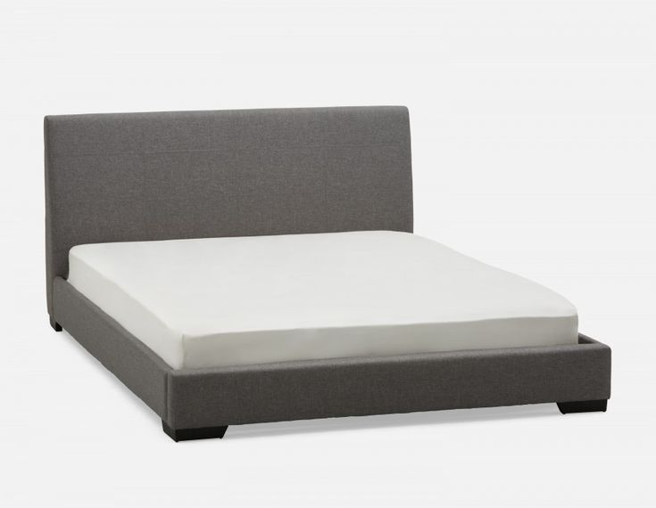 DENICE - Queen Size Bed - Light Grey
