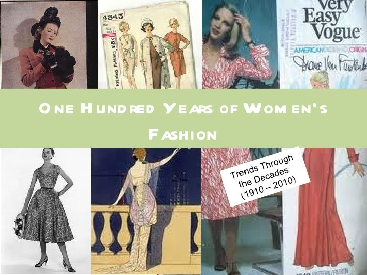 Fashion timeline through the decades