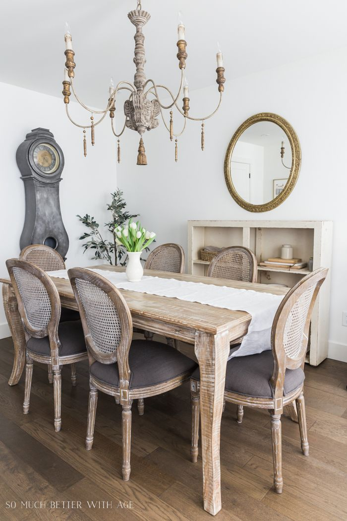 How To Add Texture To Complete A Room French Country Dining Room Wooden Table And Chairs Home Wall Colour