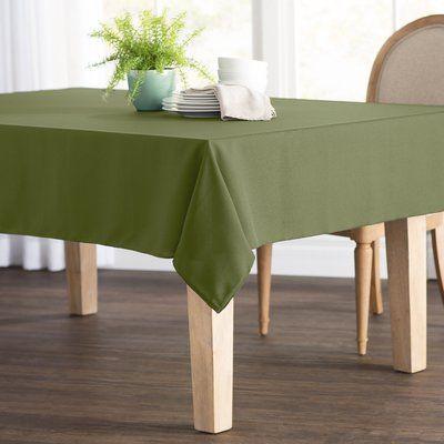 Wayfair Basics Poplin Rectangular Tablecloth Color Sage Size