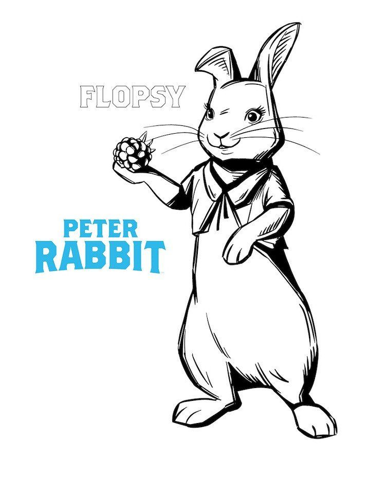 Peter Rabbit Coloring Pages Flopsy Rabbit Coloring Page Free Printable Coloring Pages In 2020 Peter Rabbit Bear Coloring Pages Minion Coloring Pages