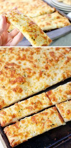 Cheesy Breadsticks   Click Pic for 21 Quick and Easy Snacks to Make   Cheap and Easy Recipes to Feed a Crowd