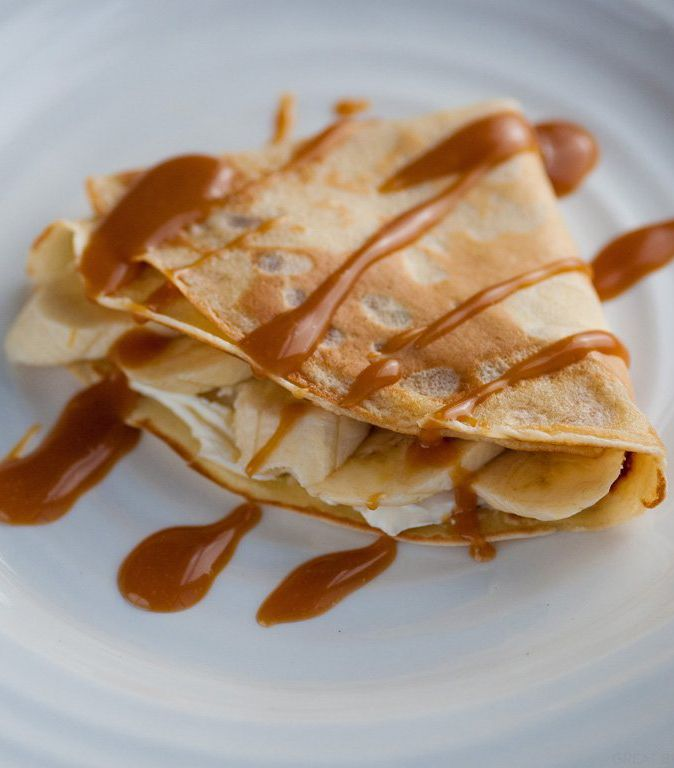 Banana and Toffee Pancakes - by Marcello Tully