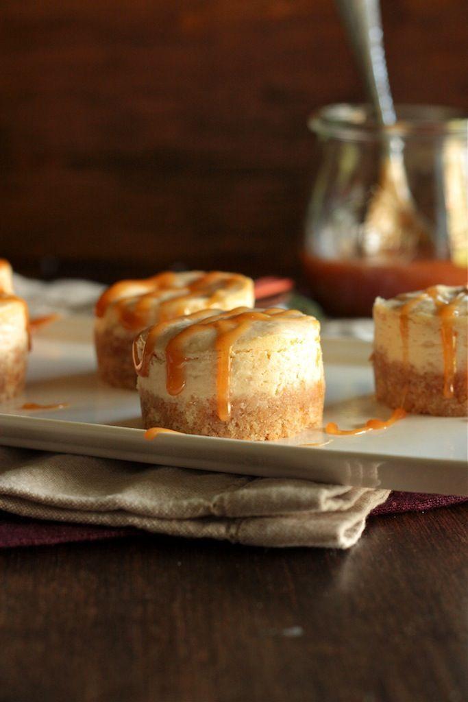 Mini Pear Cinnamon Caramel Cheesecakes