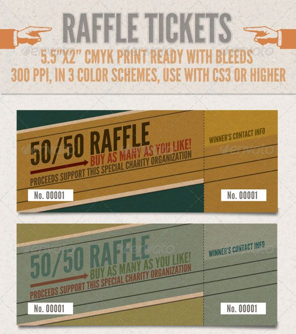 Ticket printing is an important part of a successful event - raffle ticket template