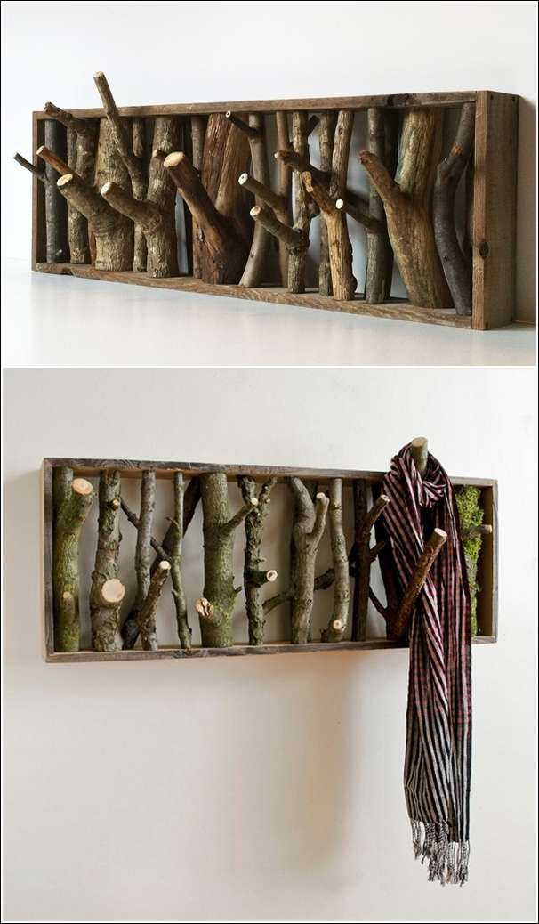 Assemble Your Stuff by Using Pallet Coat Rack with Hooks