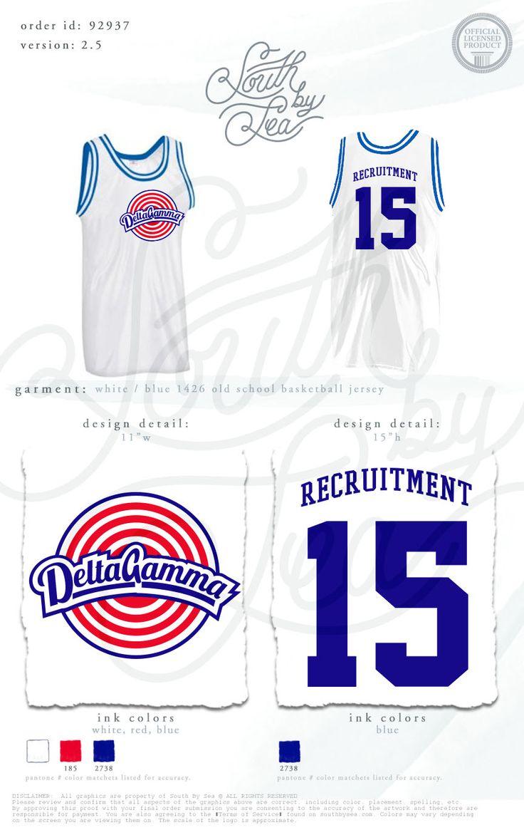 Delta Gamma | DG | Delta Gamma Jersey | DG Jersey | Recruitment Jersey | Sorority Jersey | South by Sea | Sorority Shirts | Sorority Tanks | Greek Shirts