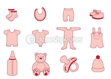 Bebek Giyim — Stok İllüstrasyon #11573226