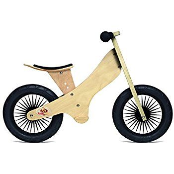 Amazon.com: Kinderfeets TinyTot Wooden Balance Bike and Tricycle, Convertible No Pedal Balance Trike for Kids and Push Bike, Natural - 2 in 1: Toys & Games
