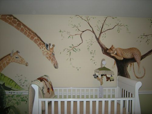 17 best images about baby room on pinterest nursery for Baby room mural ideas
