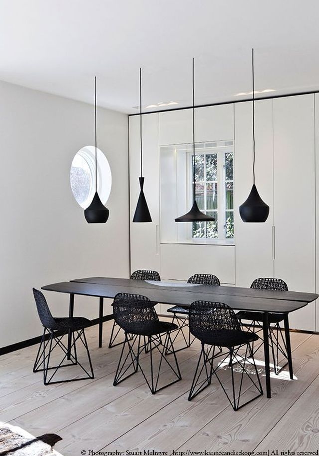 Since we've received some beautiful black pendant lights with a copper finish inside, let me share with you my favourite looks with black pendant lights as a sequel to my post: Decorating with copper