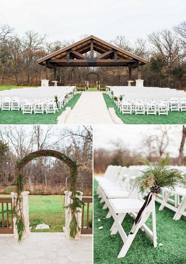 outdoor wedding venues dfw texas%0A Outdoor wedding ceremony set up at The Springs in Denton wedding venue    this Dallas are