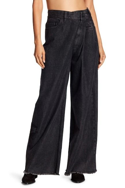 Image of Marc Jacobs Eye Patch Frayed Cuff Foldover Jeans