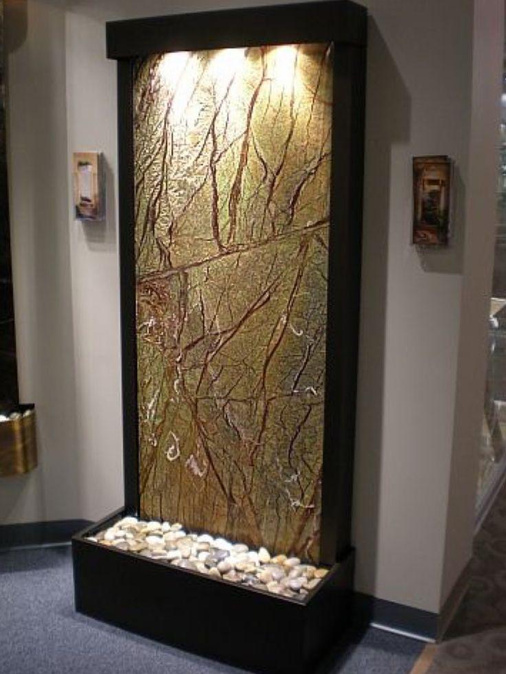 Pin On Indoors: Indoor Waterfall, Indoor Fountain, Waterfall Wall