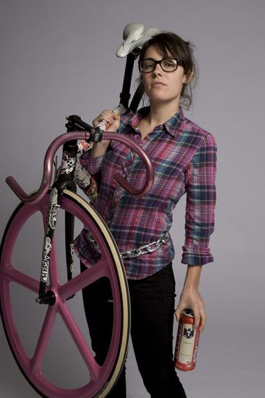 Fixed gear. Plaid shirt. Glasses. Chain around waist. Beer can. Check, check, check.