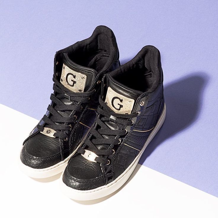 #butycom #trainers #shoes #guess #black #gold