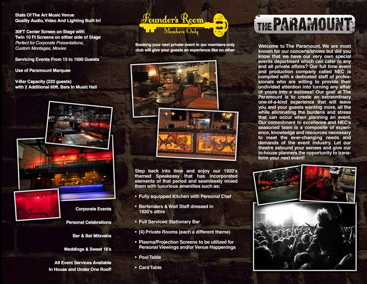 Host your special events at The Paramount!