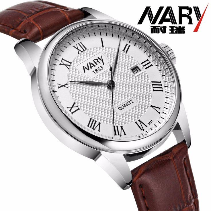 Ни капли новый роскошный мужские часы супер-мягкие кожаные часы пары календаря дата день водонепроницаемый кварцевые наручные часы для мужчин и для женщин