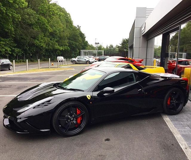 ferrari 458 speciale black. iu0027m really starting to like these and the last naturally aspirated engine is ferrari 458all blacksports 458 speciale black
