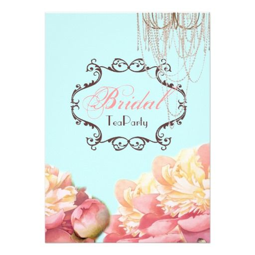 Best Tea Party Bridal Shower Invitations Images On
