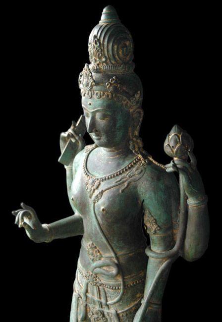 Srivijaya Style Bodhisattva, bronze statue. Important asian art for sale on CuratorsEye.com