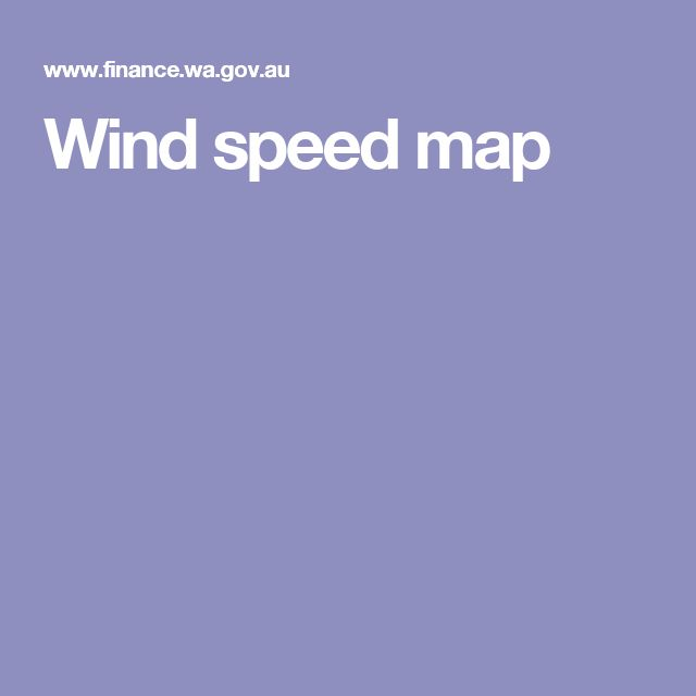 Wind speed map