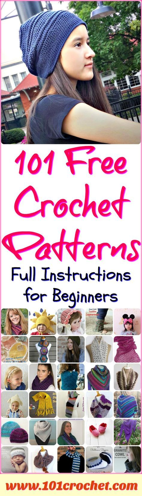 101 Free Crochet Patterns – Full Instructions for Beginners | 101 Crochet
