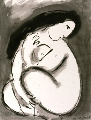 Marc CHagall - Nu - 1949                                                                                                                                                                                 More
