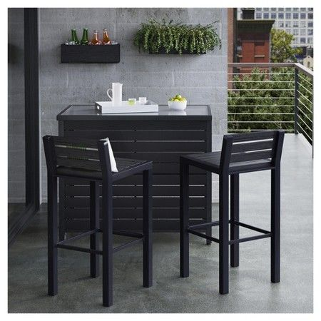 Bryant 3pc Metal Patio Bar Set   Brown/Black   Project 62™