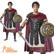 Adult Roman Gladiator Costume Mens Spartan Warrior Centurion Fancy Dress Outfit