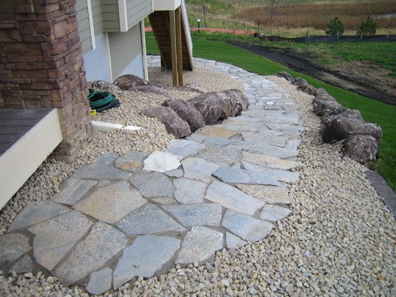 Natural Stone Walkway. This Is A Great Idea For So Many Reasons, Among Which