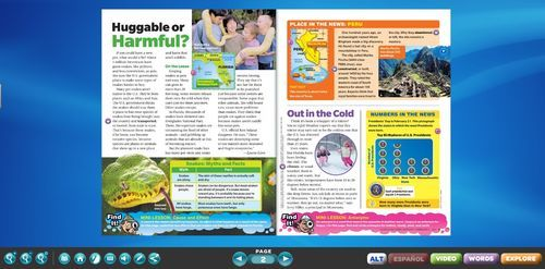 Interactive Whiteboard- Current Events- Scholastic News