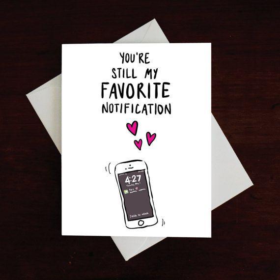 You're my fav notification Funny Card Romantic Card by MAJIKATZ