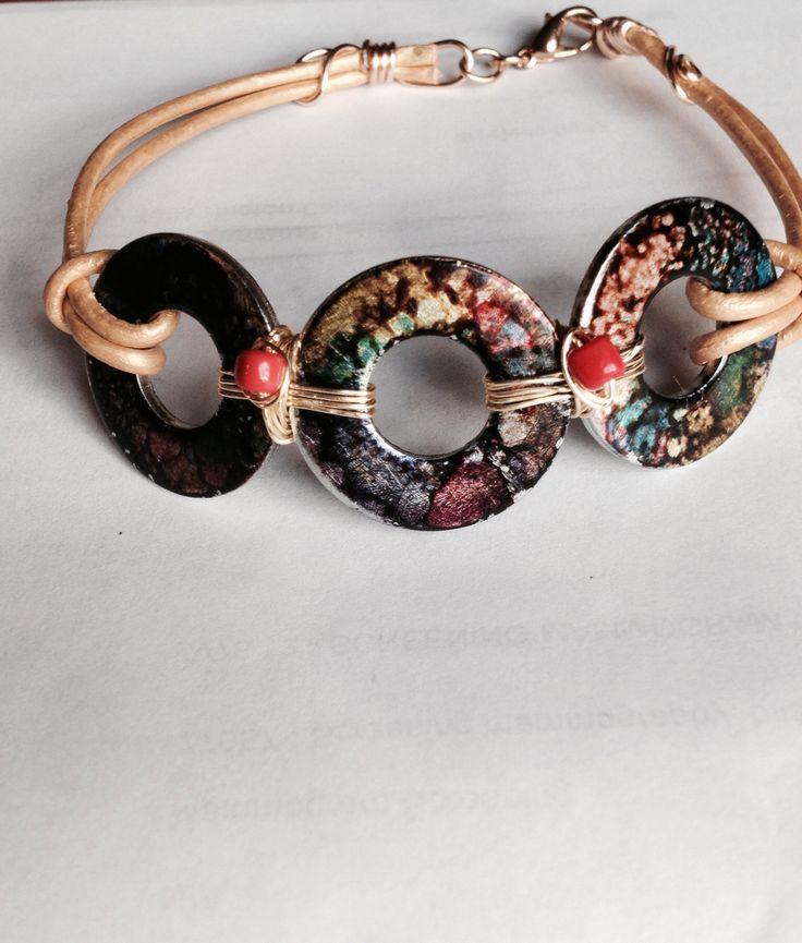 Washer Bracelet by @Ruth H. Ellis Hahn #LOVE