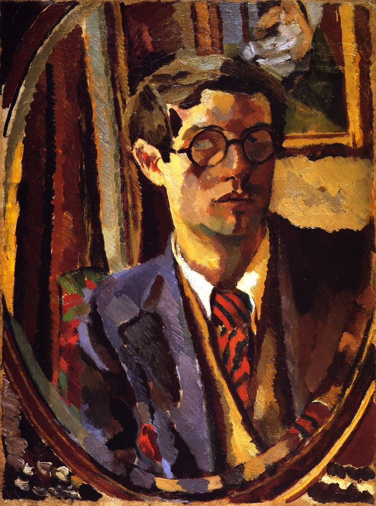 Duncan Grant, Self Portrait. Lived 1885-1978. Born in Scotland. Artist, painter, designer of textiles, pottery, costumes and theater sets.