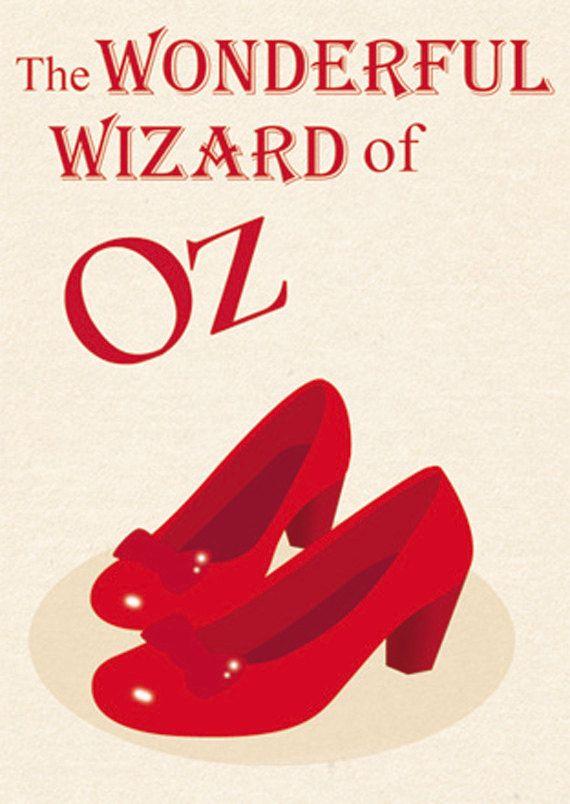 il meraviglioso mago di OZ quadro illustrazione di StravaganzaArt, $16.00