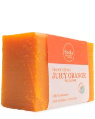 Juicy Orange Soap My favourite morning pick-me-up! Great refresher when your skin is feeling a bit oily, especially after a good night's sleep with moisturizer on, and overall just a great way to start the day feeling clean and refreshed. #allnatural #skincare #rockyglow
