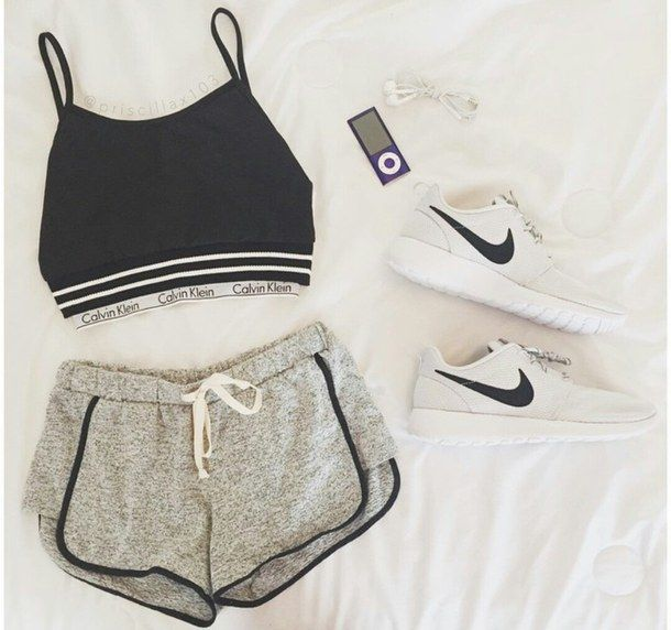 athleta calvin klein shorts shirt booty shorts underwear calvin klein  underwear black top nike nike running shoes white grey grey with black  lined shorts ...