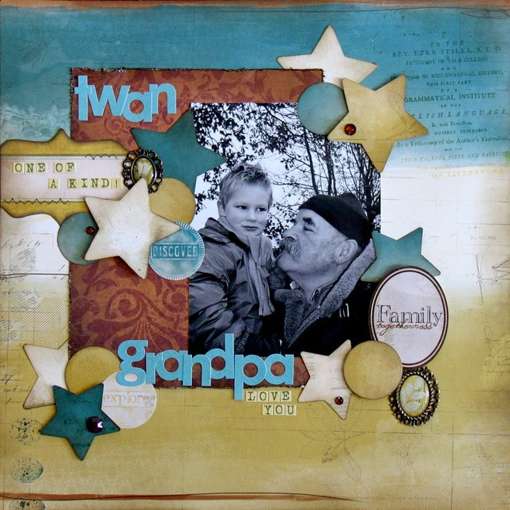 Grandpa - Scrapbook.com @BoBunny#Trailmix#Jolanda Meurs