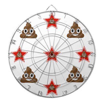 Star Emoji Poo Dartboard With Darts - red gifts color style cyo diy personalize unique