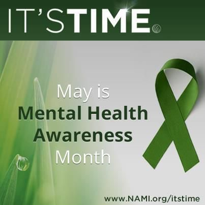 May is Mental Health Month.  Let's raise awareness of mental health.