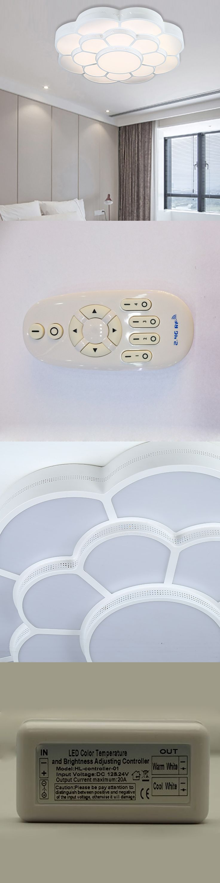 60W 2.4G RF remote control or wifi control  CCT2800K to 6500k dimmable  and brightness adjustable led ceiling light moon star