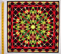 """IQA Quilt Show 2007 - Third Place: """"Carnivale"""" by JUDY SPIERS of FOXWORTH, MISSISSIPPI, USA."""