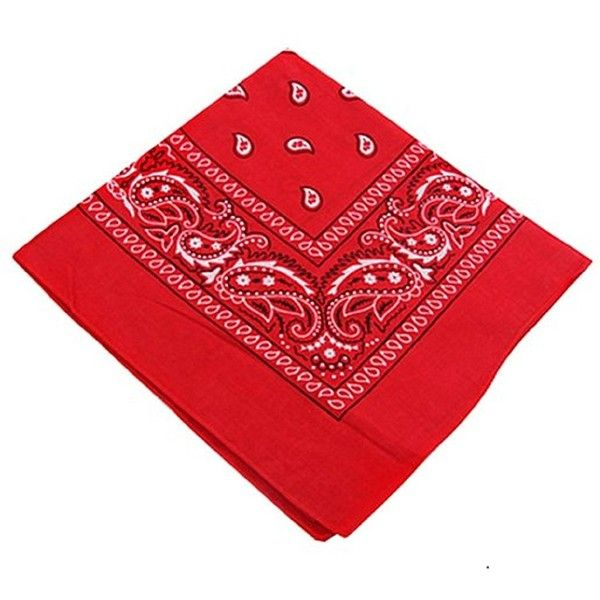 6 Color Pack Paisley Bandana Scarf, Head Wraps ($5.15) ❤ liked on Polyvore featuring accessories, scarves, red handkerchief, red bandana, paisley bandana, red shawl and paisley shawl