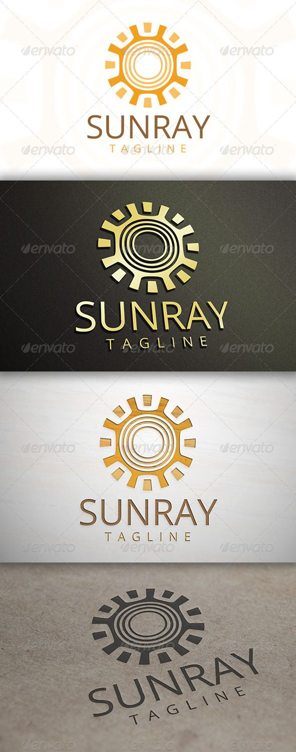 Sun Ray - Logo Design Template Vector #logotype Download it here: http://graphicriver.net/item/sun-ray-logo/6893409?s_rank=353?ref=nesto